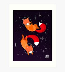 Space Foxes Art Print