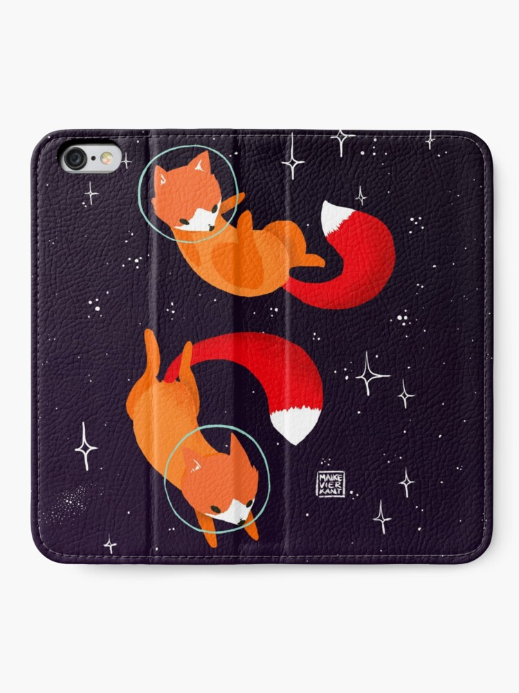Alternate view of Space Foxes iPhone Wallet