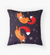 Space Foxes Throw Pillow
