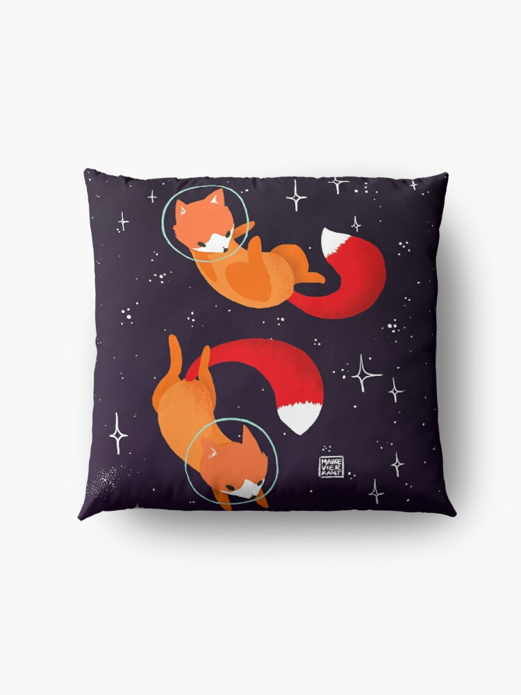 Alternate view of Space Foxes Floor Pillow