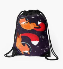 Space Foxes Drawstring Bag