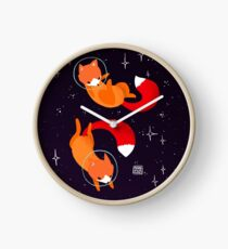 Space Foxes Clock