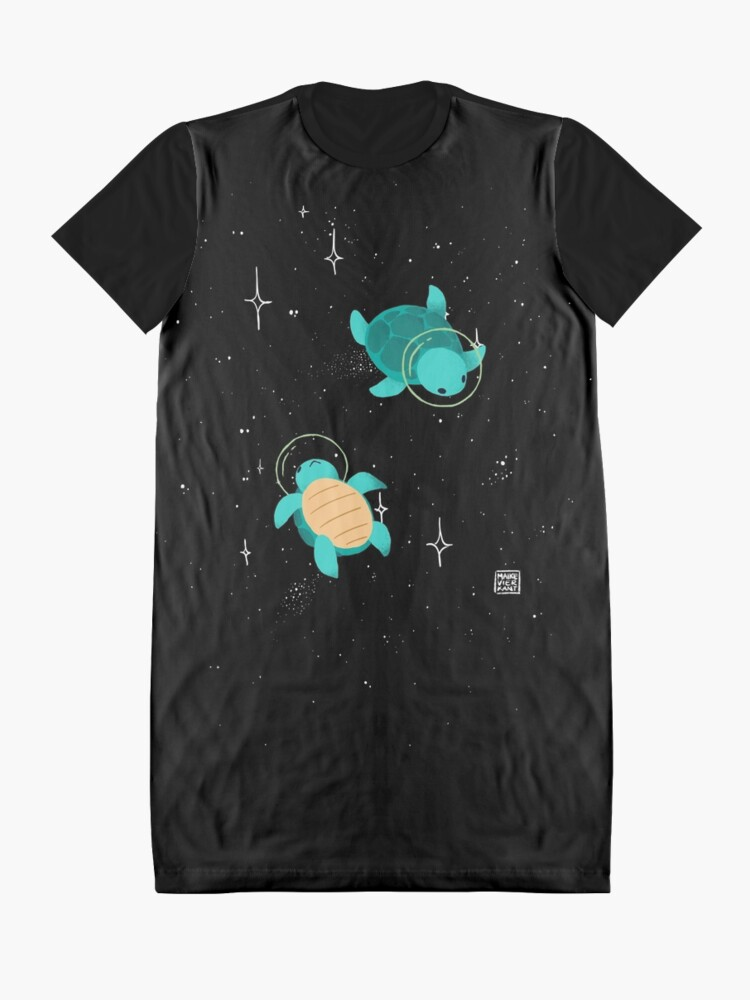 Alternate view of Space Turtles Graphic T-Shirt Dress