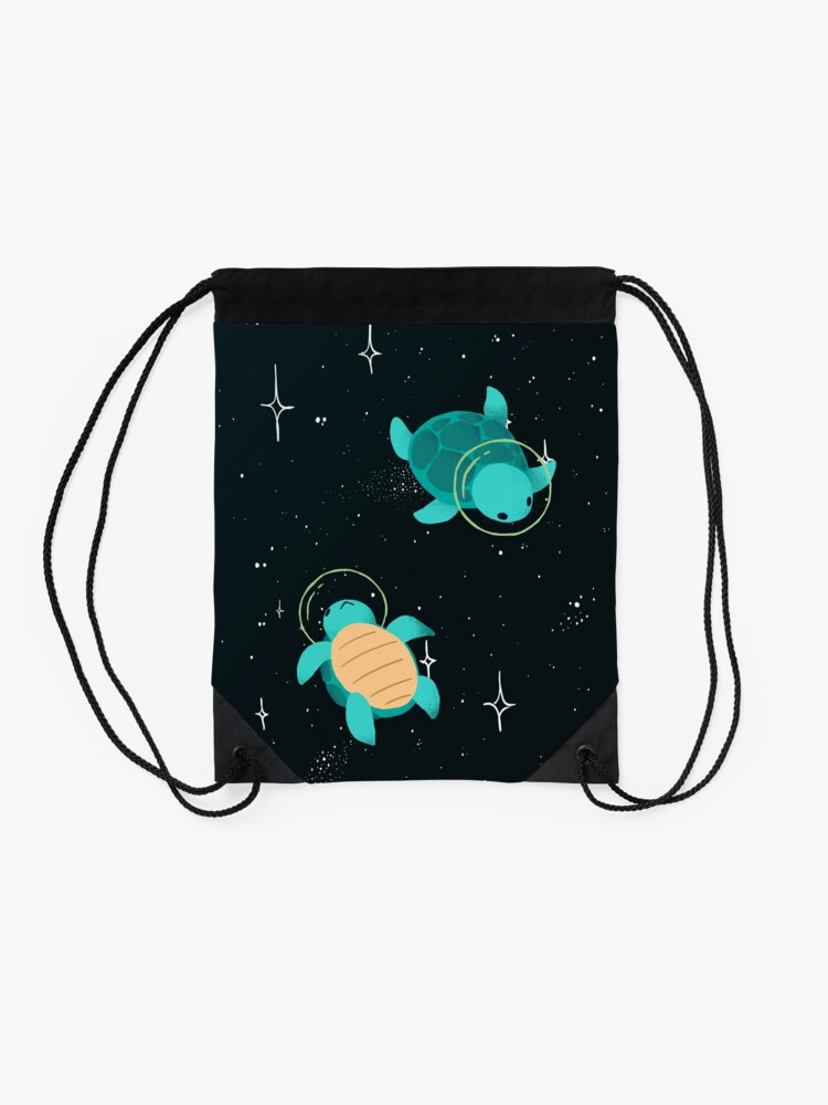Alternate view of Space Turtles Drawstring Bag