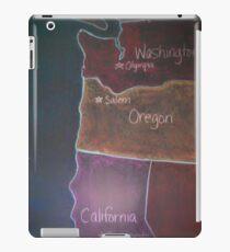 Pacific States - Detail iPad Case/Skin