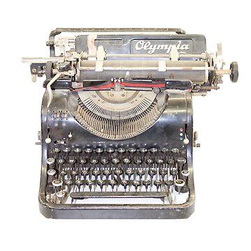 vintage typewriter by Hallmm