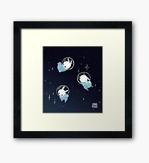 Space Bunnies Framed Print