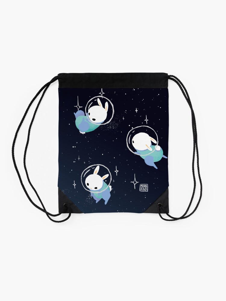 Alternate view of Space Bunnies Drawstring Bag