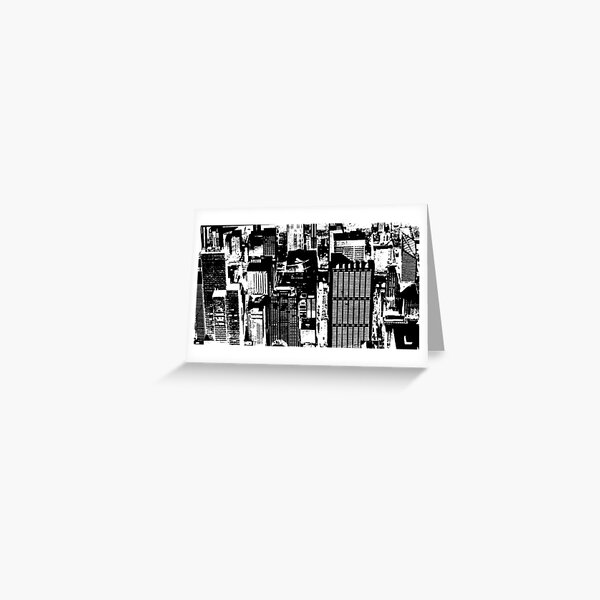 Chicago - An abstract concrete jungle Greeting Card
