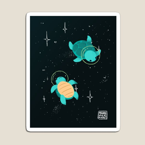 Space Turtles Magnet