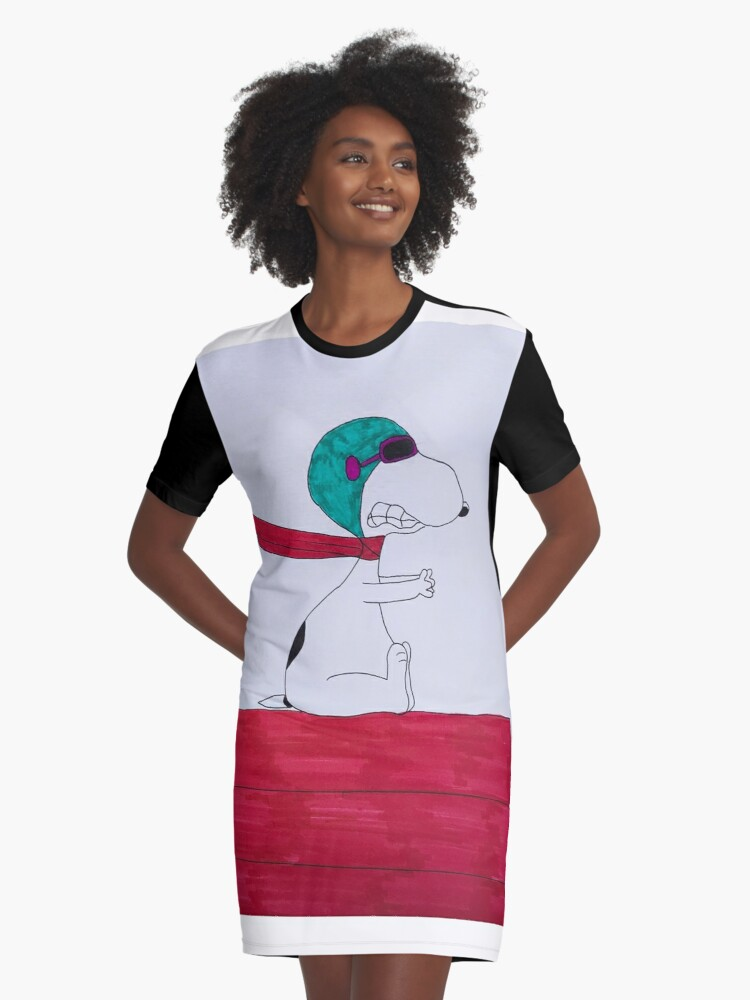 Snoopy Graphic T-Shirt Dress Front