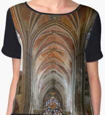 Majestic interior of old medieval church, Bourgogne, France Chiffon Top