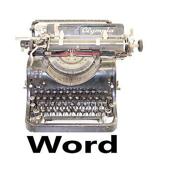typewriter. word. by Hallmm