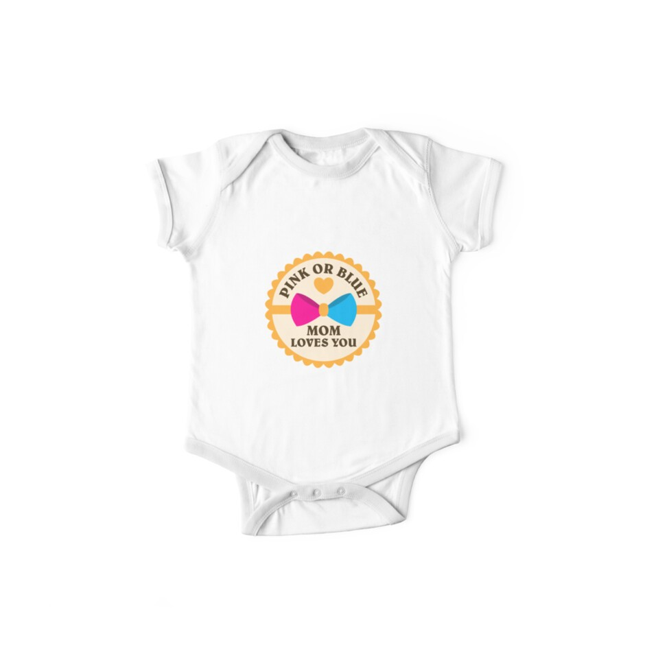 05ac067929642 Pink Or Blue Mom loves You   gender reveal shirts   pregnant shirts   new  mom gifts   baby shower gift   baby announcement shirt   funny new dad  gifts ...