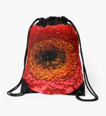 Red Gerbera Drawstring Bag