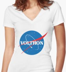NASA (but it's voltron) Women's Fitted V-Neck T-Shirt