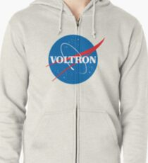 NASA (but it's voltron) Zipped Hoodie