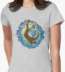 Otter Waves Womens Fitted T-Shirt