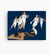 Michigan Game Winner Celebration Canvas Print