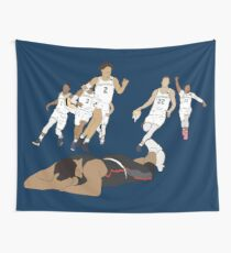 Michigan Game Winner Celebration Wall Tapestry