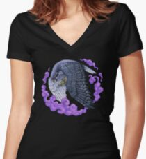 Cloud Falcon Women's Fitted V-Neck T-Shirt