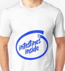 Intestines Inside (Intel logo parody) Unisex T-Shirt