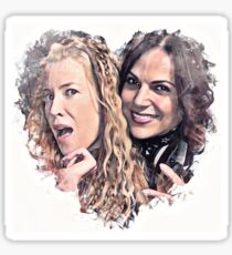 Lana parrilla and emma booth Sticker