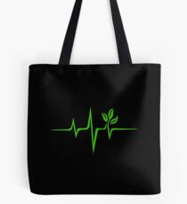 Heartbeat, Pulse Green, Vegan, Frequency, Wave, Earth, Planet Tote Bag