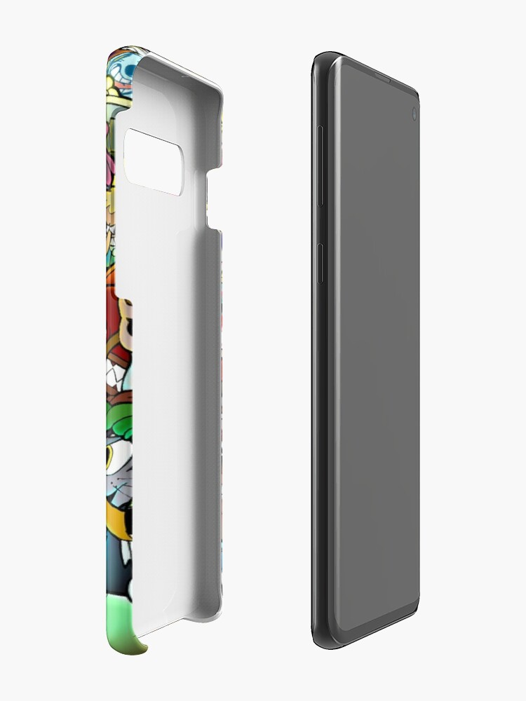 Vista alternativa de Funda y vinilo para Samsung Galaxy Cartel de Cuphead + Color