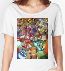 Cuphead Poster + Color Women's Relaxed Fit T-Shirt