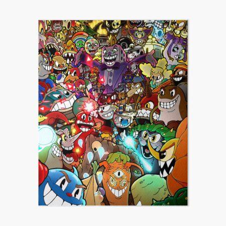 Cuphead Poster + Color Art Board Print