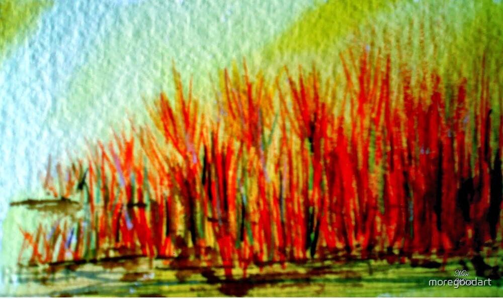 burning bushes by moregoodart
