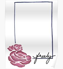 Floral Rectangle Graphic Design Poster
