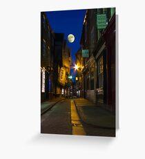 The Shambles at night, York, England Greeting Card