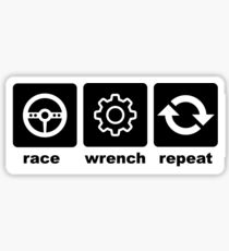 Race-Wrench-Repeat Black Sticker