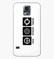 Race-Wrench-Repeat Black Case/Skin for Samsung Galaxy