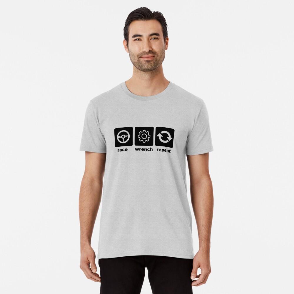 Race-Wrench-Repeat Black Premium T-Shirt