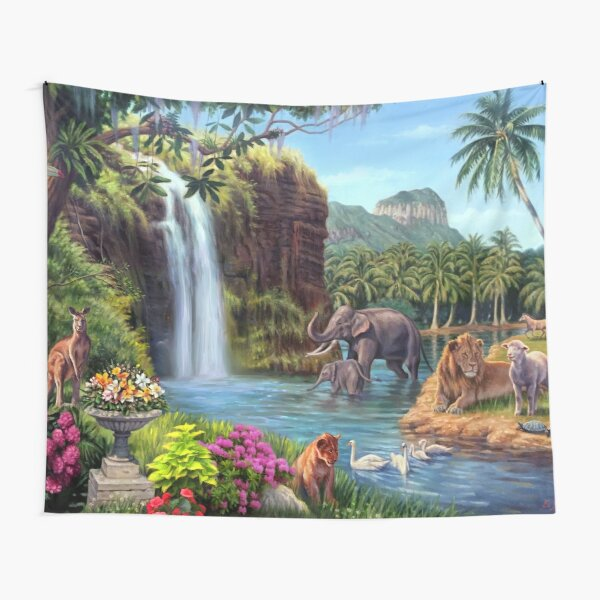 A Paradise Setting Tapestry