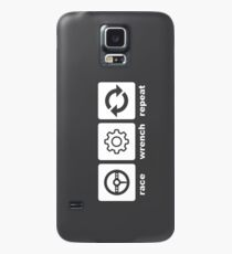 Race-Wrench-Repeat White Case/Skin for Samsung Galaxy