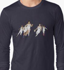 c7b89067faa Moritz Wagner Jersey V-Neck T-Shirt. Michigan Game Winner Celebration  Original Long Sleeve T-Shirt