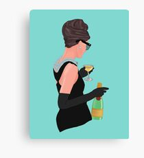 Holly Golightly - Champagne At Tiffany's  Canvas Print