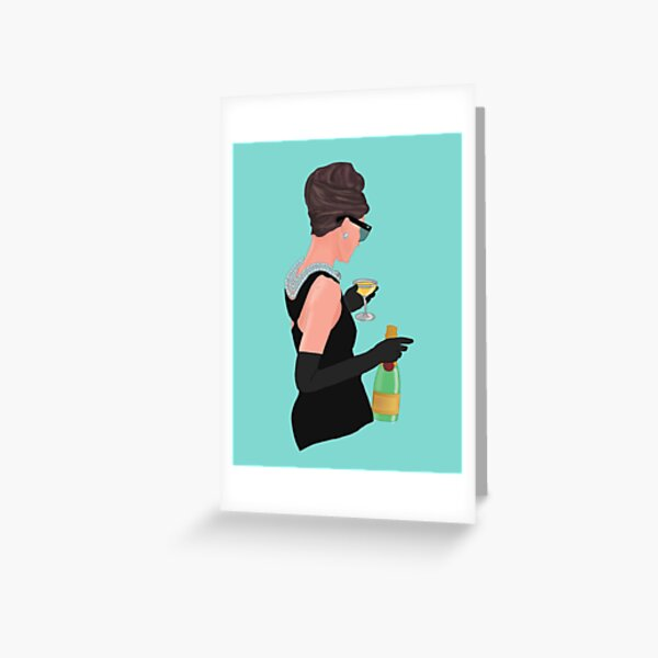 Holly Golightly - Champagne At Tiffany's  Greeting Card