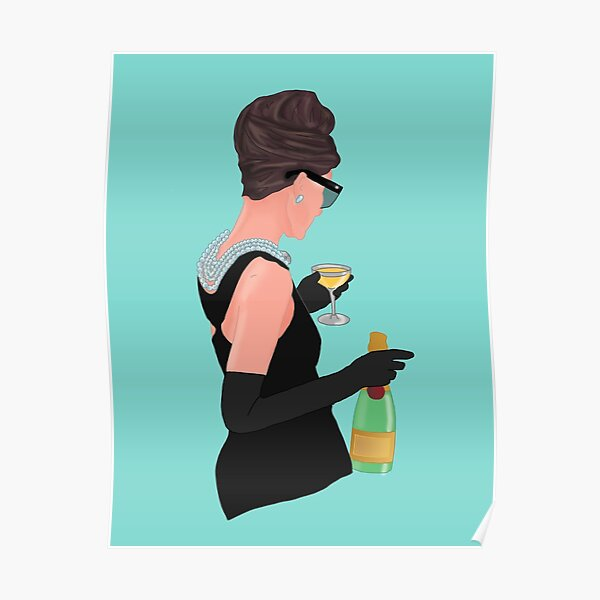 Holly Golightly - Champagne At Tiffany's  Poster