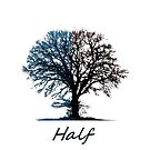 Half Tree and Title in Blue and Black by Eli Lang