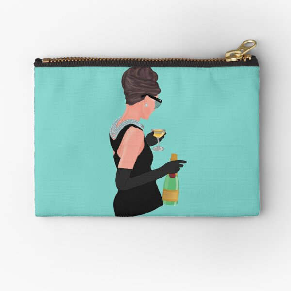 Holly Golightly - Champagne At Tiffany's  Zipper Pouch