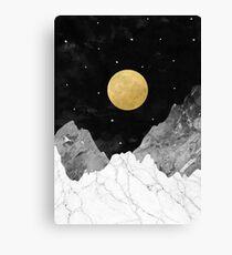 Mond und Sterne Leinwanddruck