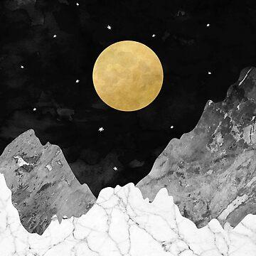 Moon and Stars by KookiePixel