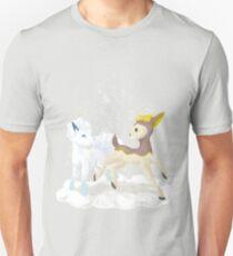 Alolan Vulpix and Winter Deerling Unisex T-Shirt