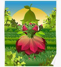 cute flower nature girl Poster
