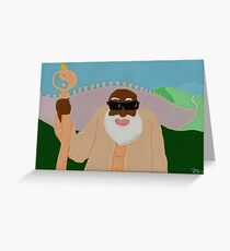 the wicked monk in spring Greeting Card